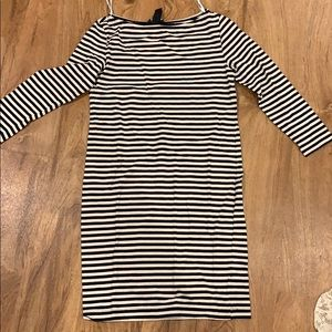 H and m striped dress